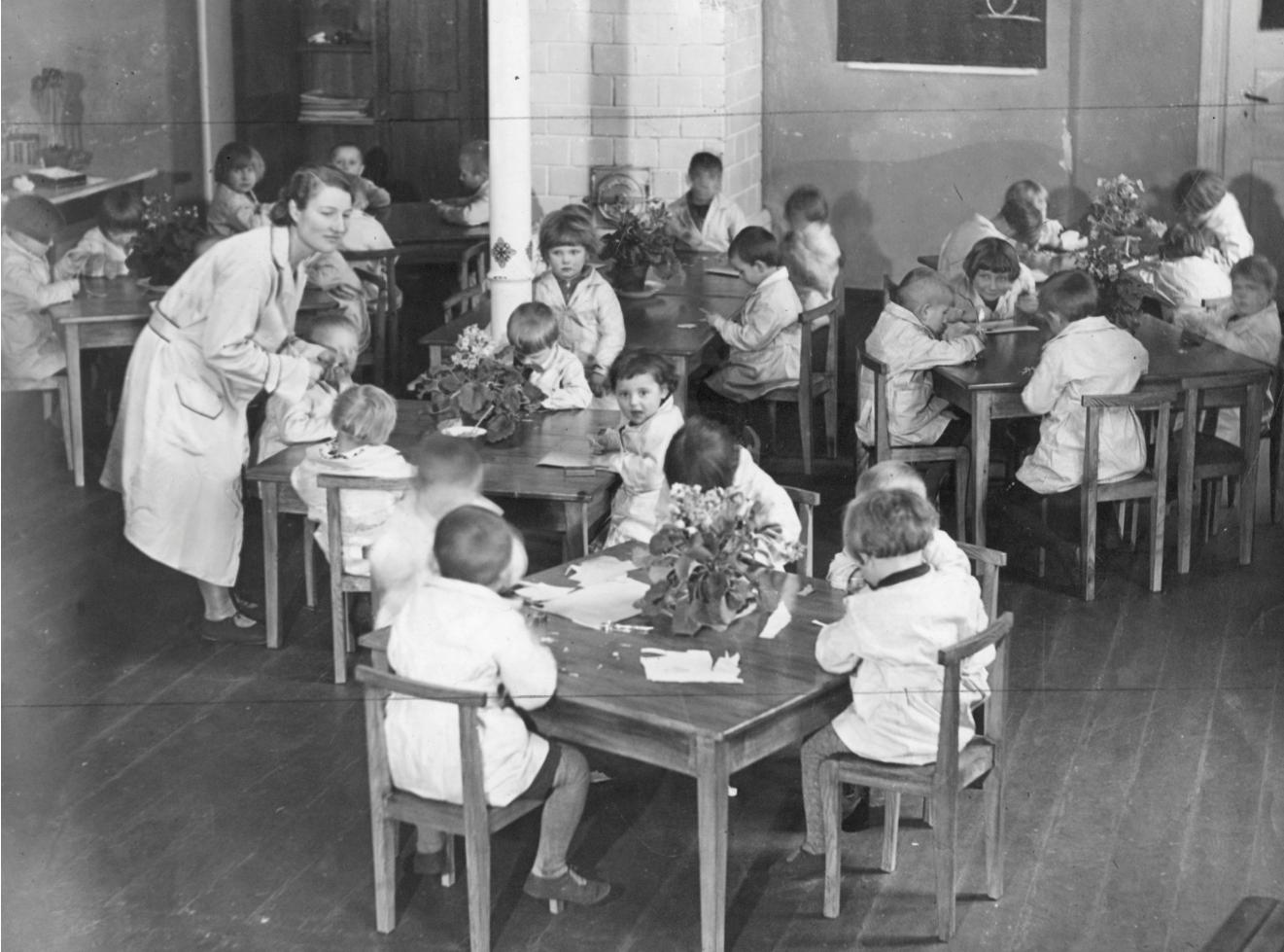 Przedszkole dla dzieci pracowników Łazienek w Warszawie 1932